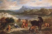 Ferdinand Victor Eugene Delacroix Ovid among the Scythians oil painting reproduction